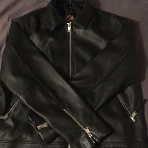 Leather jacket/brown inside from h and m